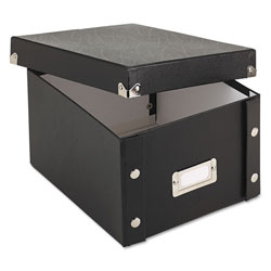 Ideastream 5 x 8 Collapsible Index Card File Box, 1,100 Card Capacity, Black