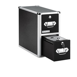 Ideastream Two Drawer CD File Cabinet with Key Lock, Holds up to 330 CDs in Vaultz™! CD fil