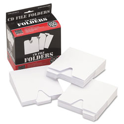 Ideastream CD File Folders, 1/3 Cut Tabs, Assorted Positions, White