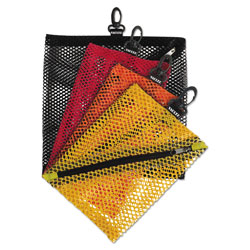 Ideastream Mesh Storage Bags with Zipper and Clip, Assorted