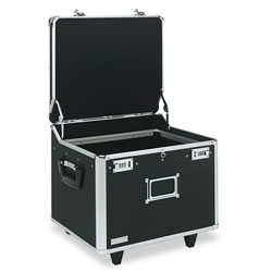 Ideastream Locking File Cart with Letter & Legal Size, Black