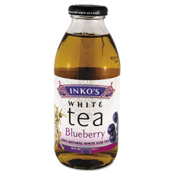 Inko's Ready-To-Drink Blueberry White Tea, 16 oz Bottle, 12 per Carton