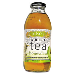 Inko's Ready-To-Drink Honeydew White Tea, 16 oz Bottle, 12 per Carton