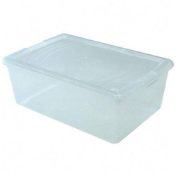 "Iris Modular Boxes, Snap-tight Lid, 10-5/8"" x 16-1/8"" x 5-7/8"", Clear"
