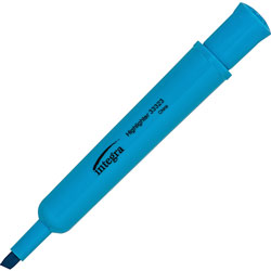 Integra Desk Highlighter, Chisel Tip, Fluorescent Blue