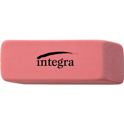 Integra Pink Pencil Eraser with Beveled End, Medium