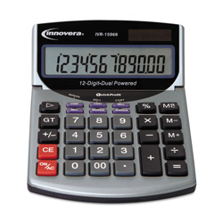 Innovera 15966 Minidesk Calculator, LCD Display, Battery/Solar Power