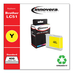 Innovera Remanufactured LC51Y Ink, Yellow
