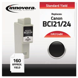 Innovera Replacement Ink Cart For Canon Bci-21Bk/Bci-24Bk Cartridges, Black