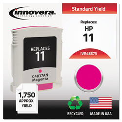 Innovera 4837A (C4837A, 11) Compatible Remfg Magenta Inkjet Cartridge, 1,750 Pages