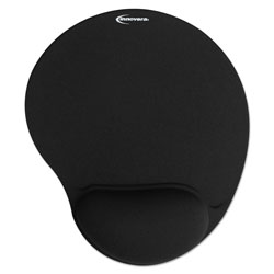 Innovera Mouse Pad w/Gel Wrist Pad, Nonskid Base, 10-3/8 x 8-7/8, Black