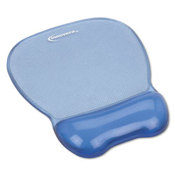 Innovera Gel Mouse Pad w/Wrist Rest, Nonskid Base, 8-1/4 x 9-5/8, Blue