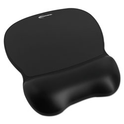 Innovera Gel Mouse Pad w/Wrist Rest, Nonskid Base, 8-1/4 x 9-5/8, Black