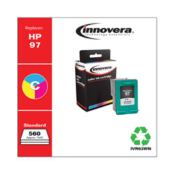Innovera Remanufactured C9363WN (97) High-Yield Ink, Tri-Color