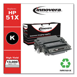 Innovera Remanufactured Q7551X (51X) High-Yield Toner, Black