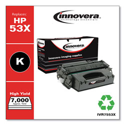 Innovera Remanufactured Q7553X (53X) High-Yield Toner, Black