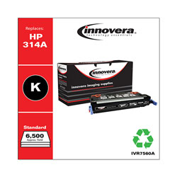 Innovera 7560A (Q7560A) Compatible Remanufactured Toner Cartridge, Black