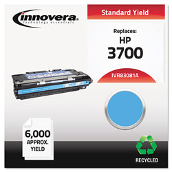 Innovera 83081A Compatible, Remanufactured, Q2681A (311A) Laser Toner, 6000 Yield, Cyan