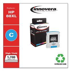 Innovera 9391AN (C9391AN#140, 88XL) Compatible Remfg Cyan Inkjet Cartridge, 1,540 Pges