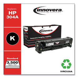 Innovera C530A Compatible, Remanufactured, CC530A (304A) Laser Toner, 3500 Yield, Black