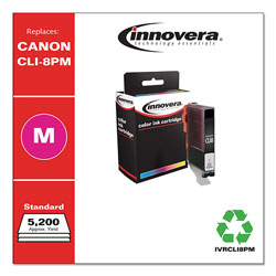 Innovera Remanufactured 0625B002 (CLI-8) Ink, Photo Magenta