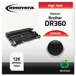 Innovera Remanufactured DR360 Drum Unit, Black