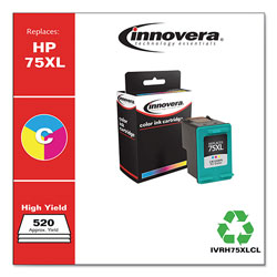 Innovera Remanufactured CB338WN (75XL) High-Yield Ink, Tri-Color