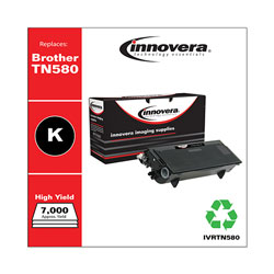 Innovera Remanufactured TN580 High-Yield Toner, Black