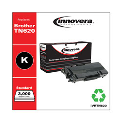 Innovera TN620 Compatible Toner, 3,000 Page-Yield, Black
