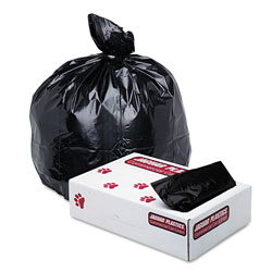 Jaguar Plastics Low-Density Commercial Can Liner, 33gal, 1.7mil, Black, 150/Carton