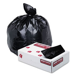 Jaguar Plastics Low-Density Commercial Can Liners, 40-45gal, Blk, 100/Carton