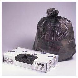 "Jaguar Plastics Black Flat-Bottom Trash Bags, 0.5 Mil, 40"" X 46"", Case of 250"