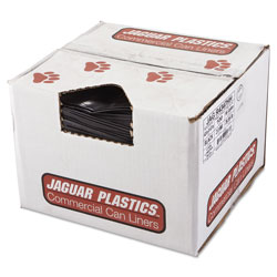 Jaguar Plastics Repro Low-Density Can Liners, 43 x 47, Black, 100/Carton