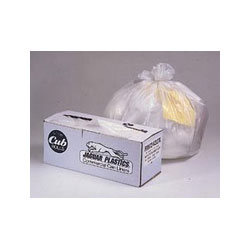 Jaguar Plastics Cub Commercial Low-Density Can Liners, 33 x 39, 33-Gal, 0.9 Mil, White, 75/Roll