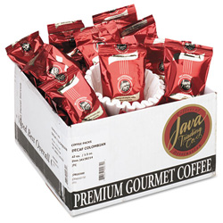 Java Trading Company 302142 Columbian Decaf Coffee Portion Packs, 1 1/2 Ounces