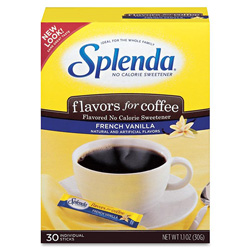 Splenda® French Vanilla Sweetener, No Calorie, 30/BX