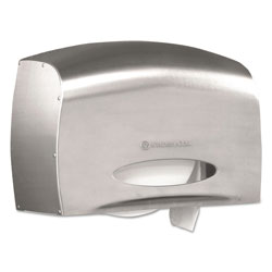 Kimberly-Clark Coreless JRT Jr. Bath Tissue Dispenser, EZ Load, 6x9.8x14.3, Stainless Steel