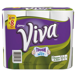 Kleenex Viva Choose-a-Size Big Roll Towels, White, Paper, 88/Roll