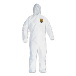 Kleenguard® A40 Elastic-Cuff Hooded Coveralls, White, 2X-Large, 25/Case