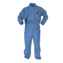 Kleenguard® A60 Elastic-Cuff & Back Coveralls, Blue, X-Large, 24/Case