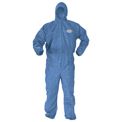 Kleenguard® A60 Elastic-Cuff & Back Hooded Coveralls, Blue, 2XL, 24/Case