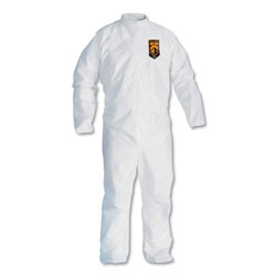Kleenguard® A30 Elastic-Back Coveralls, White, X-Large, 25/Case