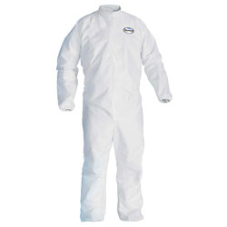 Kleenguard® A30 Elastic-Back & Cuff Coveralls, White, Large, 25/Case