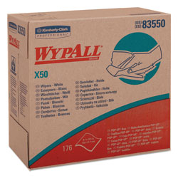 WypAll® X50 Cleaning Wipes, White, Case of 10