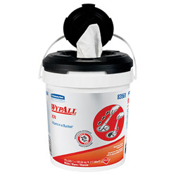 WypAll® Wipes In A Bucket Cleaning Wipes, White, 2 Buckets of 220