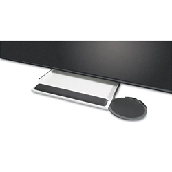 Kelly Computer Supplies Underdesk Keyboard Tray with Oval Mouse Platform