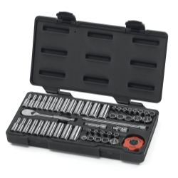 "Gearwrench 51 PIece 1/4"" Drive 12 pt. SAE and Metric Socket Set"