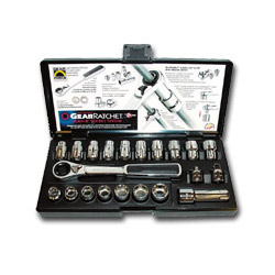 Gearwrench 21 Piece Gear Ratchet Combination SAE & Metric Socket Set