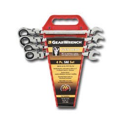 Gearwrench 4 Piece Flex Head Gear Wrench Completer Set SAE