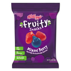 Kellogg's Fruity Snacks, Mixed Berry, 2.5oz Bag, 48/Box